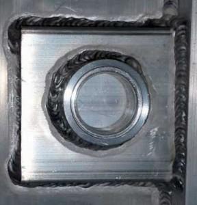 IceMaster - Reinigung von Schweißnähten – vorher