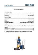 Technisches Datenblatt IceMaster XLM + LM