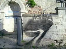 PowerMaster Graffitientfernung - vorher