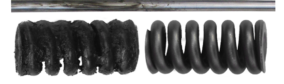 Rohr und Federn Vorher / Nachher
